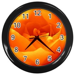 Rose Wall Clock (Black)