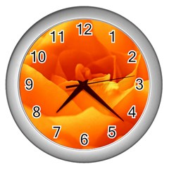 Rose Wall Clock (Silver)