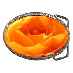 Rose Belt Buckle (Oval)
