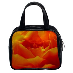 Rose Classic Handbag (two Sides)