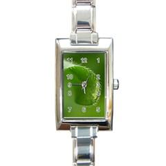 Leaf Rectangular Italian Charm Watch