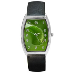 Leaf Tonneau Leather Watch
