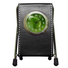 Leaf Stationery Holder Clock