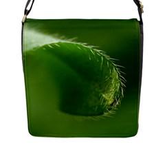 Leaf Flap Closure Messenger Bag (Large)