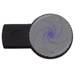 Hypnotisiert 1GB USB Flash Drive (Round)