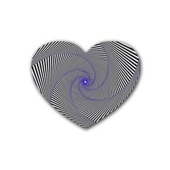 Hypnotisiert Drink Coasters 4 Pack (Heart)
