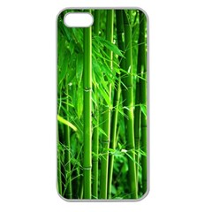 Bamboo Apple Seamless Iphone 5 Case (clear)
