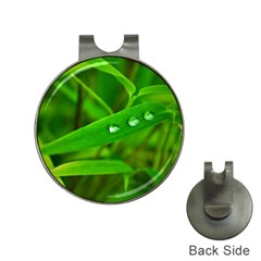 Bamboo Leaf With Drops Hat Clip with Golf Ball Marker