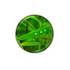 Bamboo Leaf With Drops Golf Ball Marker (for Hat Clip)