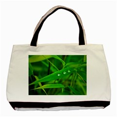 Bamboo Leaf With Drops Classic Tote Bag