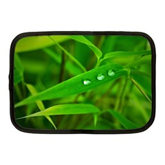Bamboo Leaf With Drops Netbook Case (Medium)