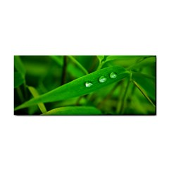 Bamboo Leaf With Drops Hand Towel