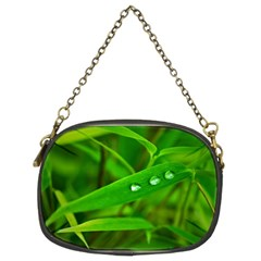 Bamboo Leaf With Drops Chain Purse (two Sided)