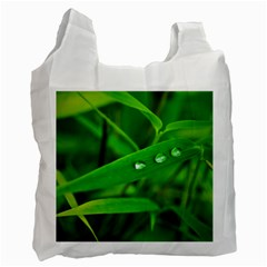 Bamboo Leaf With Drops Recycle Bag (Two Sides)