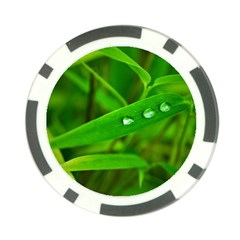 Bamboo Leaf With Drops Poker Chip (10 Pack)