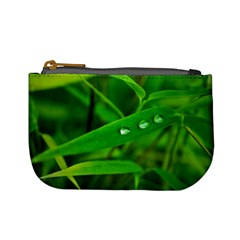 Bamboo Leaf With Drops Coin Change Purse