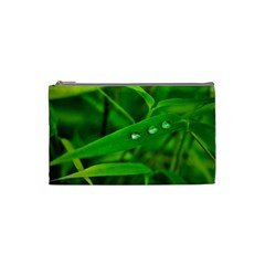 Bamboo Leaf With Drops Cosmetic Bag (Small)