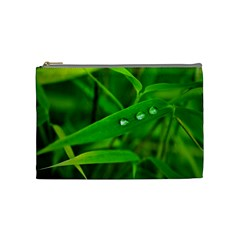Bamboo Leaf With Drops Cosmetic Bag (medium)