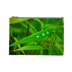 Bamboo Leaf With Drops Cosmetic Bag (large)