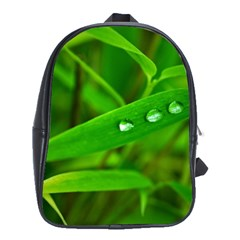 Bamboo Leaf With Drops School Bag (Large)