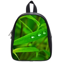 Bamboo Leaf With Drops School Bag (small)