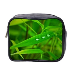 Bamboo Leaf With Drops Mini Travel Toiletry Bag (Two Sides)
