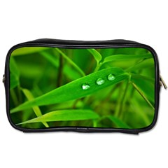 Bamboo Leaf With Drops Travel Toiletry Bag (Two Sides)