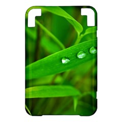 Bamboo Leaf With Drops Kindle 3 Keyboard 3G Hardshell Case