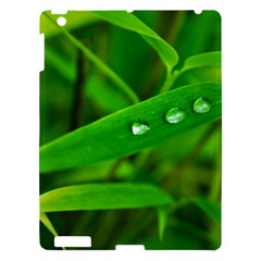 Bamboo Leaf With Drops Apple iPad 3/4 Hardshell Case
