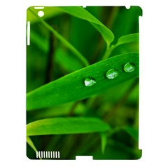 Bamboo Leaf With Drops Apple iPad 3/4 Hardshell Case (Compatible with Smart Cover)