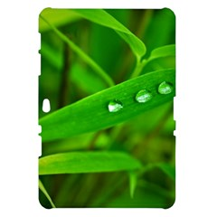 Bamboo Leaf With Drops Samsung Galaxy Tab 10.1  P7500 Hardshell Case