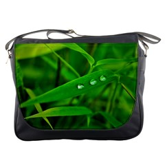 Bamboo Leaf With Drops Messenger Bag