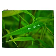 Bamboo Leaf With Drops Cosmetic Bag (XXL)