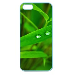 Bamboo Leaf With Drops Apple Seamless Iphone 5 Case (color)