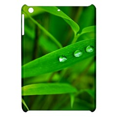 Bamboo Leaf With Drops Apple iPad Mini Hardshell Case