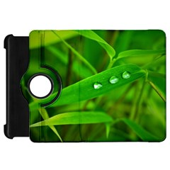 Bamboo Leaf With Drops Kindle Fire Hd 7  Flip 360 Case