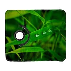 Bamboo Leaf With Drops Samsung Galaxy S  III Flip 360 Case