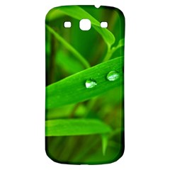 Bamboo Leaf With Drops Samsung Galaxy S3 S III Classic Hardshell Back Case