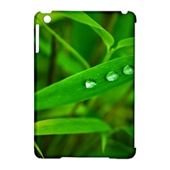 Bamboo Leaf With Drops Apple iPad Mini Hardshell Case (Compatible with Smart Cover)