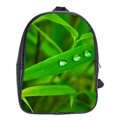 Bamboo Leaf With Drops School Bag (xl)
