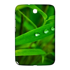 Bamboo Leaf With Drops Samsung Galaxy Note 8 0 N5100 Hardshell Case