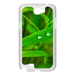 Bamboo Leaf With Drops Samsung Galaxy Note 2 Case (White)