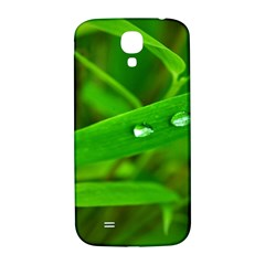 Bamboo Leaf With Drops Samsung Galaxy S4 I9500/i9505  Hardshell Back Case