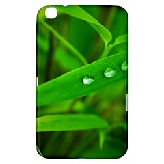 Bamboo Leaf With Drops Samsung Galaxy Tab 3 (8 ) T3100 Hardshell Case