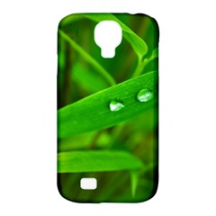 Bamboo Leaf With Drops Samsung Galaxy S4 Classic Hardshell Case (PC+Silicone)