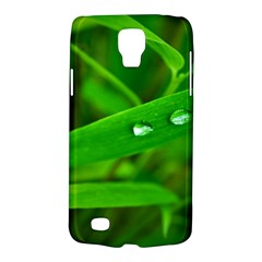 Bamboo Leaf With Drops Samsung Galaxy S4 Active (I9295) Hardshell Case