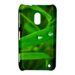 Bamboo Leaf With Drops Nokia Lumia 620 Hardshell Case
