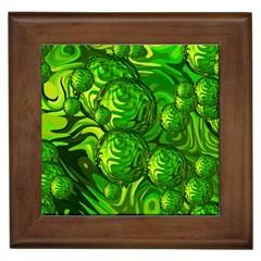 Green Balls  Framed Ceramic Tile