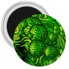 Green Balls  3  Button Magnet