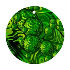 Green Balls  Round Ornament